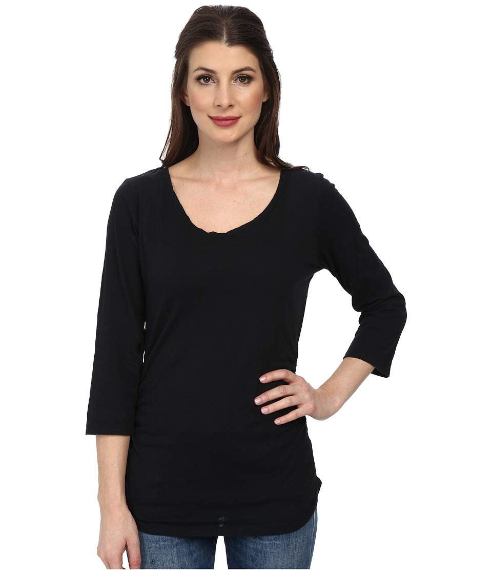 Fresh Produce - 3/4 Sleeve Coffee House Tee (Black) Women