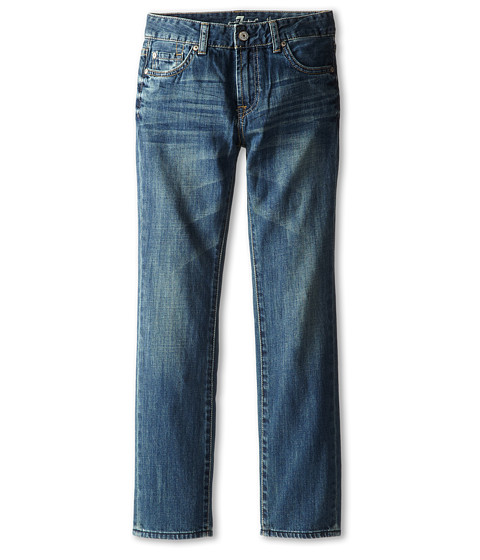 7 For All Mankind Kids - Straight Jeans in Barbados Blue (Big Kids) (Barbados Blue) Boy's Jeans