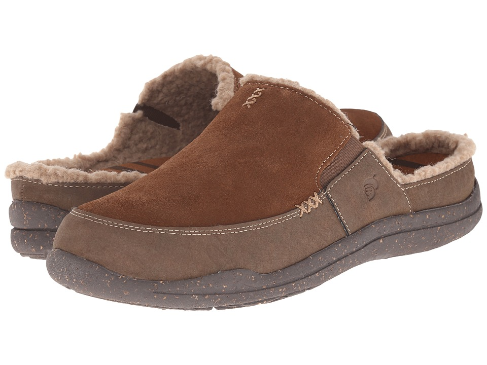 Acorn - WearAbout Slide w FirmCore (Chocolate Suede) Men's Slippers