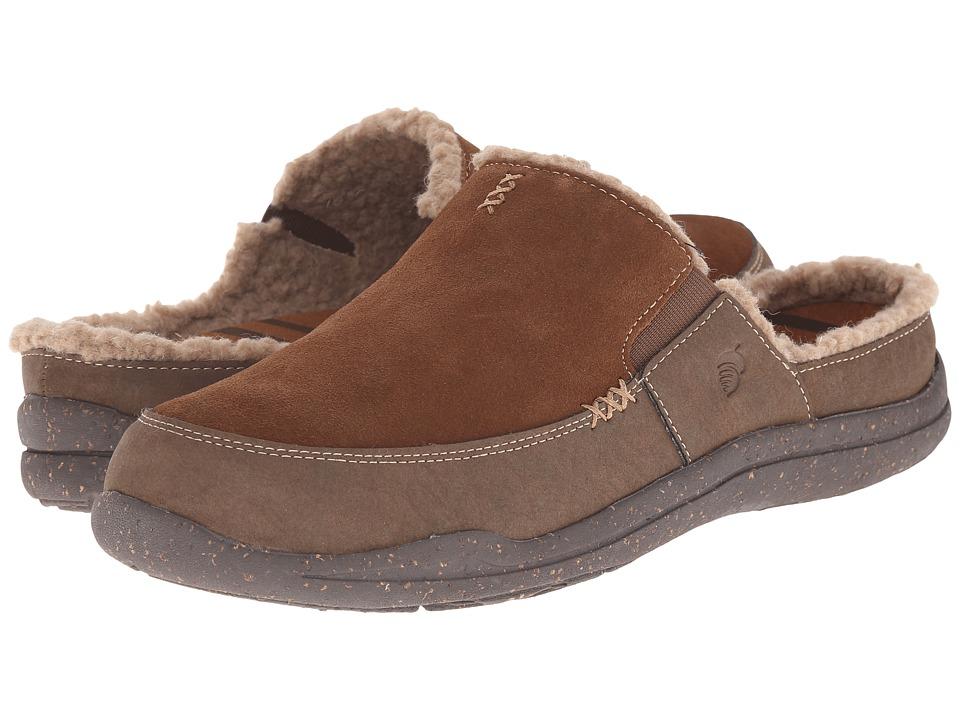 Acorn - WearAbouttm Slide w FirmCoretm (Chocolate Suede) Men's Slippers