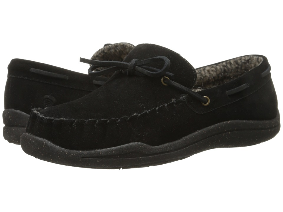 Acorn - WearAbout Camp Moc w/ FirmCore (Black) Men's Slip on Shoes