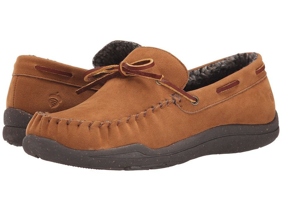 Acorn - WearAbout Camp Moc w/ FirmCore (Cigar) Men's Slip on Shoes