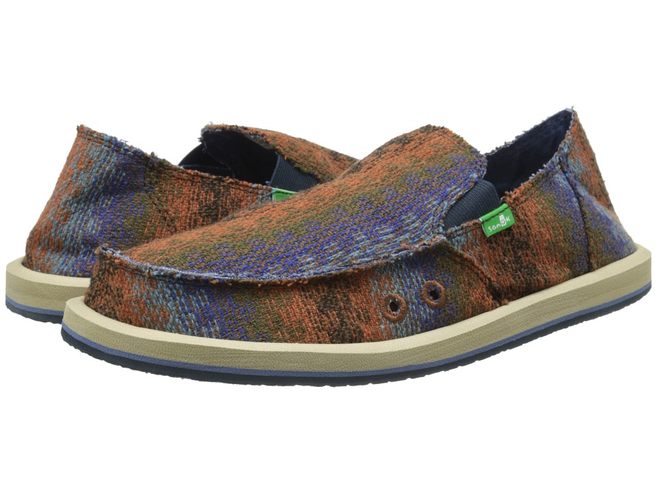 Sanuk - Donny Tribal (Brown Tribal) Men's Slip on Shoes