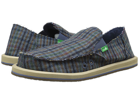 Sanuk - Donny (Blue Hounds) Men's Slip on Shoes