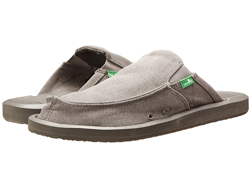Sanuk - You Got My Back 2 Basics (Grey Canvas) Men's Slip on Shoes