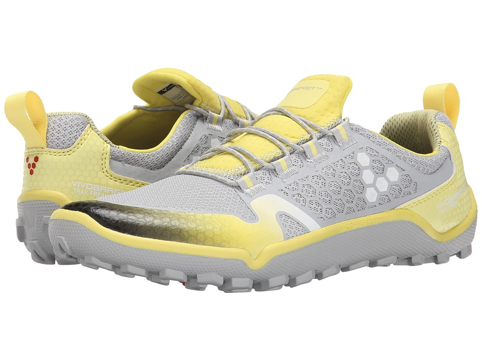 Vivobarefoot - Trail Freak (Grey/Lemon) Women's Running Shoes