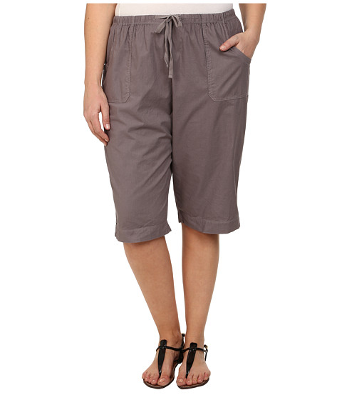 Fresh Produce - Plus Size Park Ave Pedal Pusher (Grey Smoke) Women's Shorts