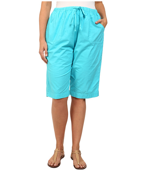 Fresh Produce - Plus Size Park Ave Pedal Pusher (Luna Turquoise) Women