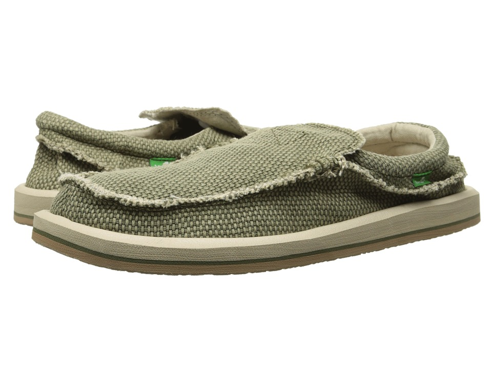 Sanuk - Chiba (Olive) Men's Slip on Shoes