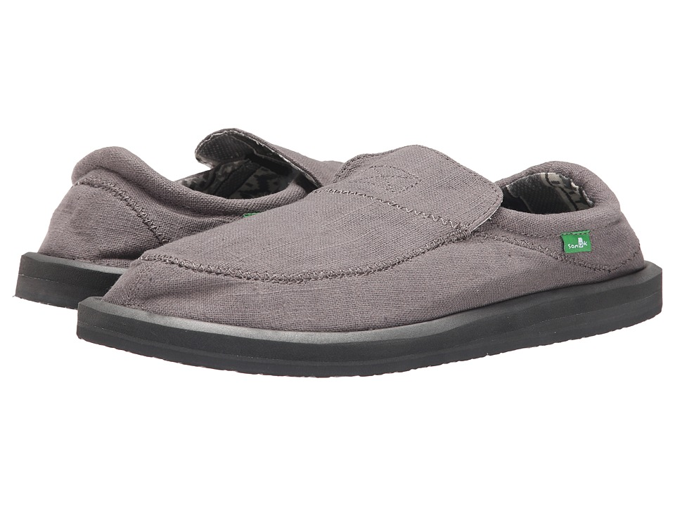 Sanuk - Chiba Stitched (Grey) Men's Slip on Shoes