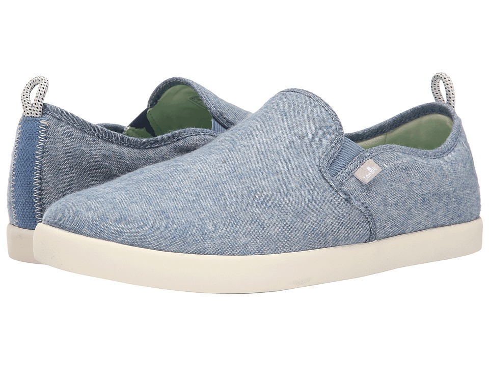 Sanuk - Range TX (Blue Chambray) Men's Slip on Shoes