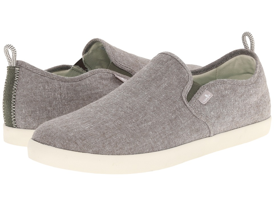 Sanuk - Range TX (Olive Chambray) Men's Slip on Shoes