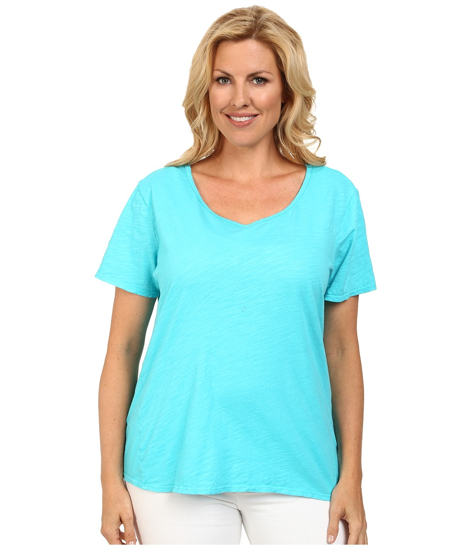 Fresh Produce - Plus Size Luna Top (Luna Turquoise) Women's Clothing
