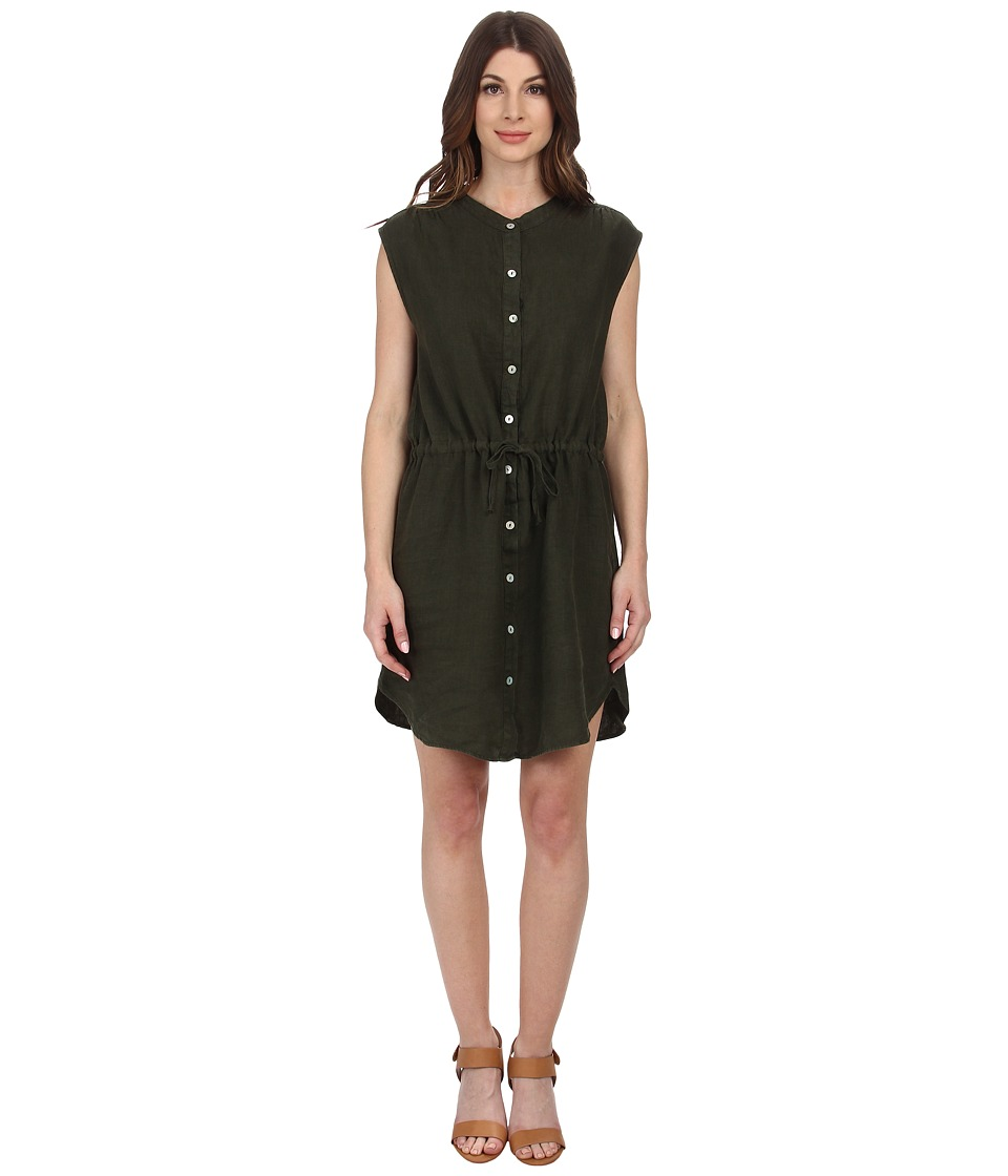 Allen Allen - Sleeveless Shirt Dress (Olive) Women's Dress