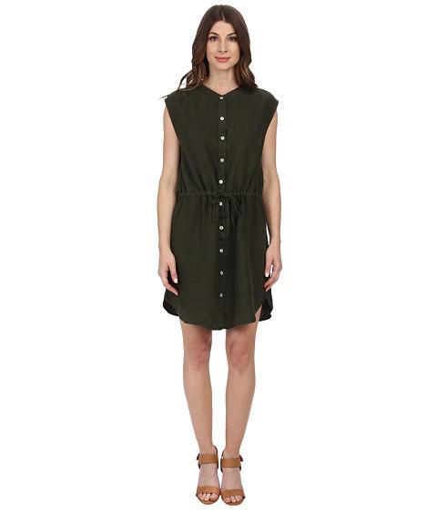 Allen Allen - Sleeveless Shirt Dress (Olive) Women's Dress