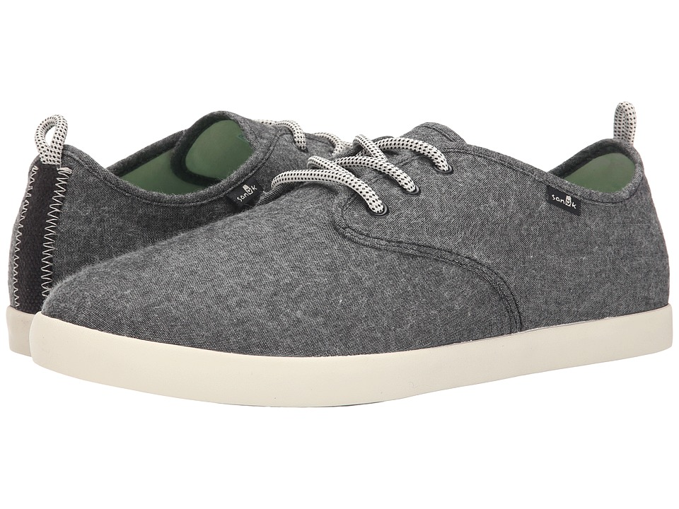 Sanuk - Guide TX (Black Chambray) Men's Lace up casual Shoes