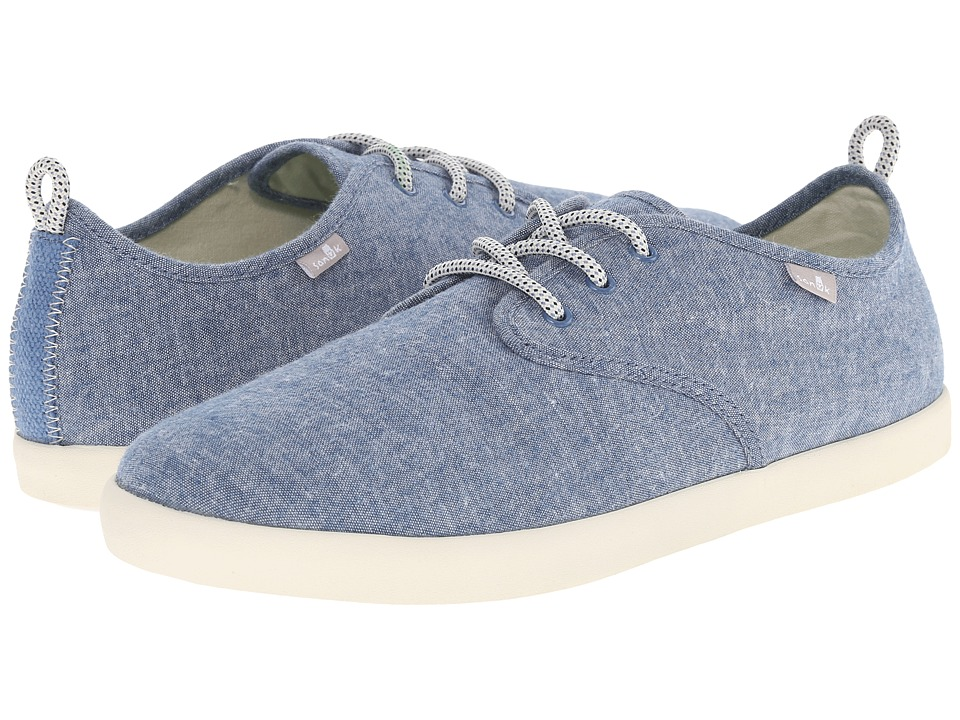 Sanuk - Guide TX (Blue Chambray) Men's Lace up casual Shoes