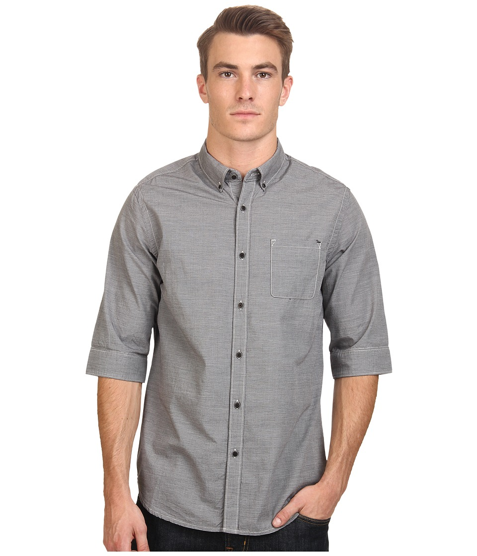 Howe - High Ball 3/4 Woven (Night Shadow) Men's Short Sleeve Button Up