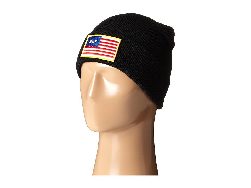 HUF - Flag Beanie (Black) Beanies