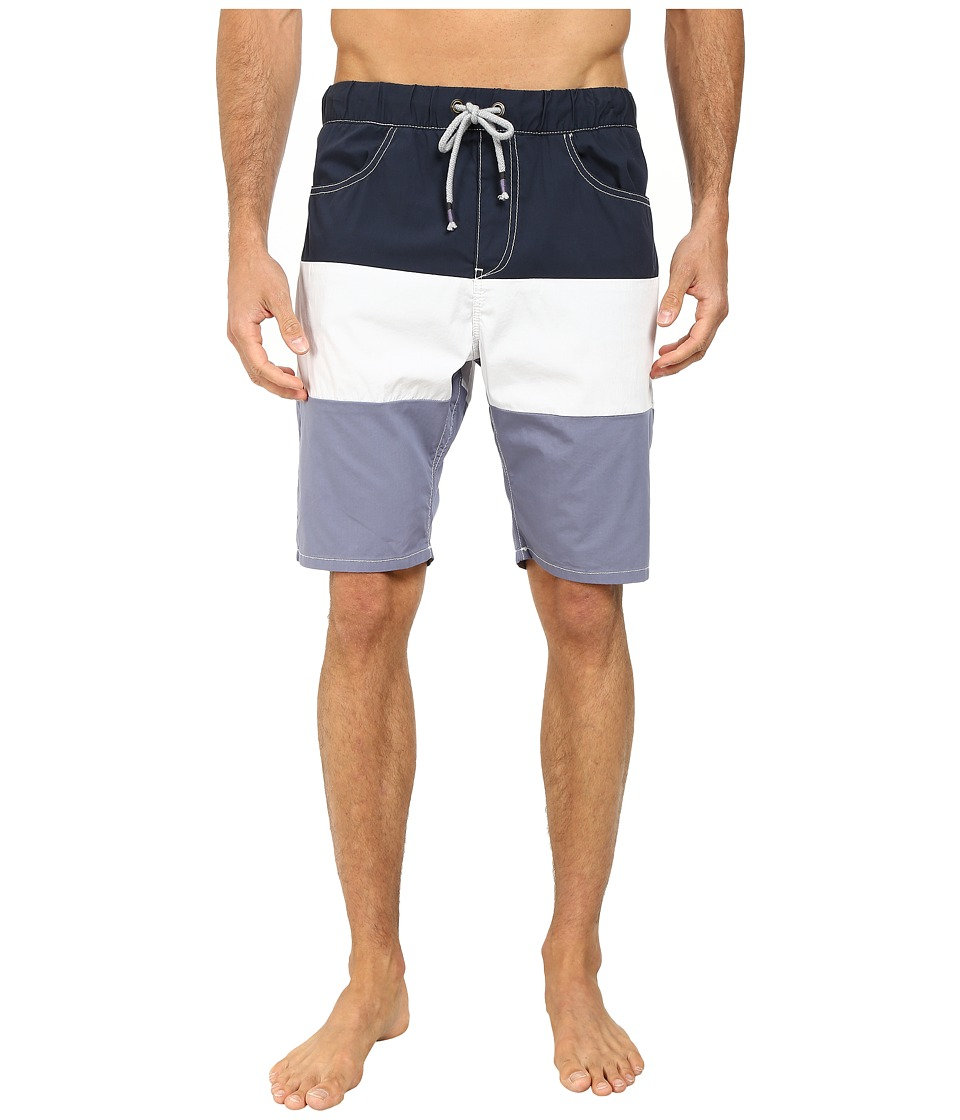 Howe - Catalina Color Block Swim Walk Shorts (Commodore) Men's Swimwear