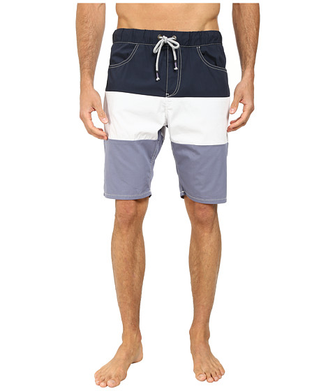 Howe - Catalina Color Block Swim Walk Shorts (Commodore) Men