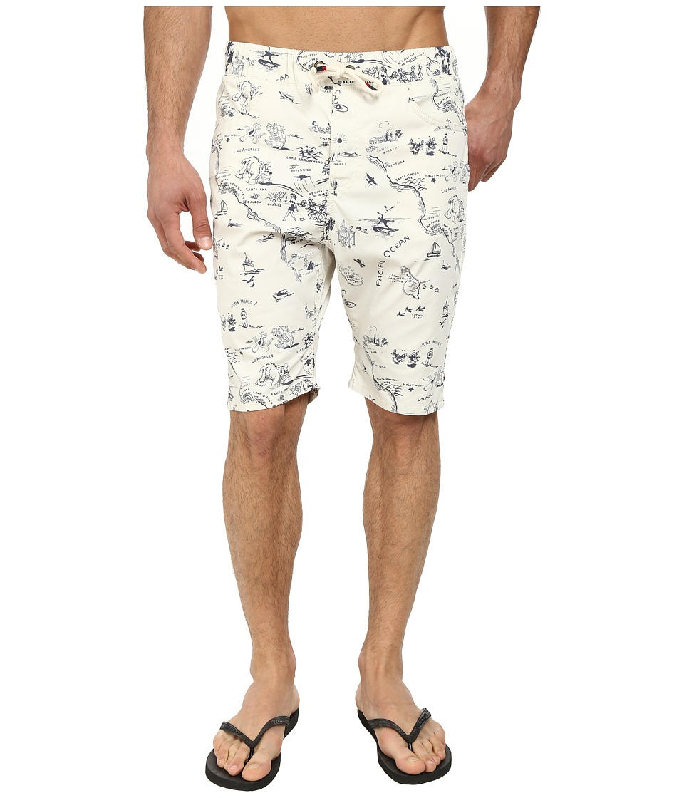 Howe - Cataline Print Walkshort Swim Shorts (Bone) Men's Swimwear