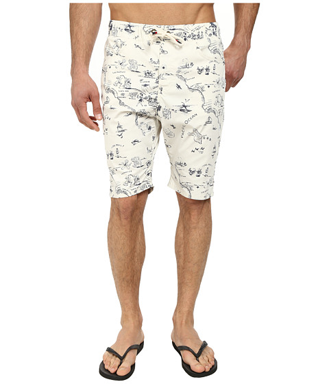 Howe - Cataline Print Walkshort Swim Shorts (Bone) Men