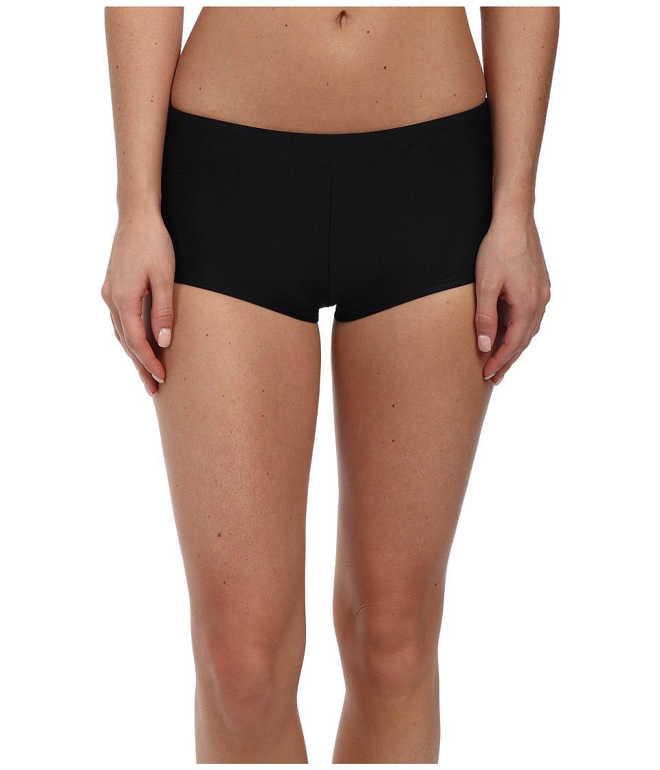 adidas - Iconic Bionic Banded Swim Shorts (Black) Women