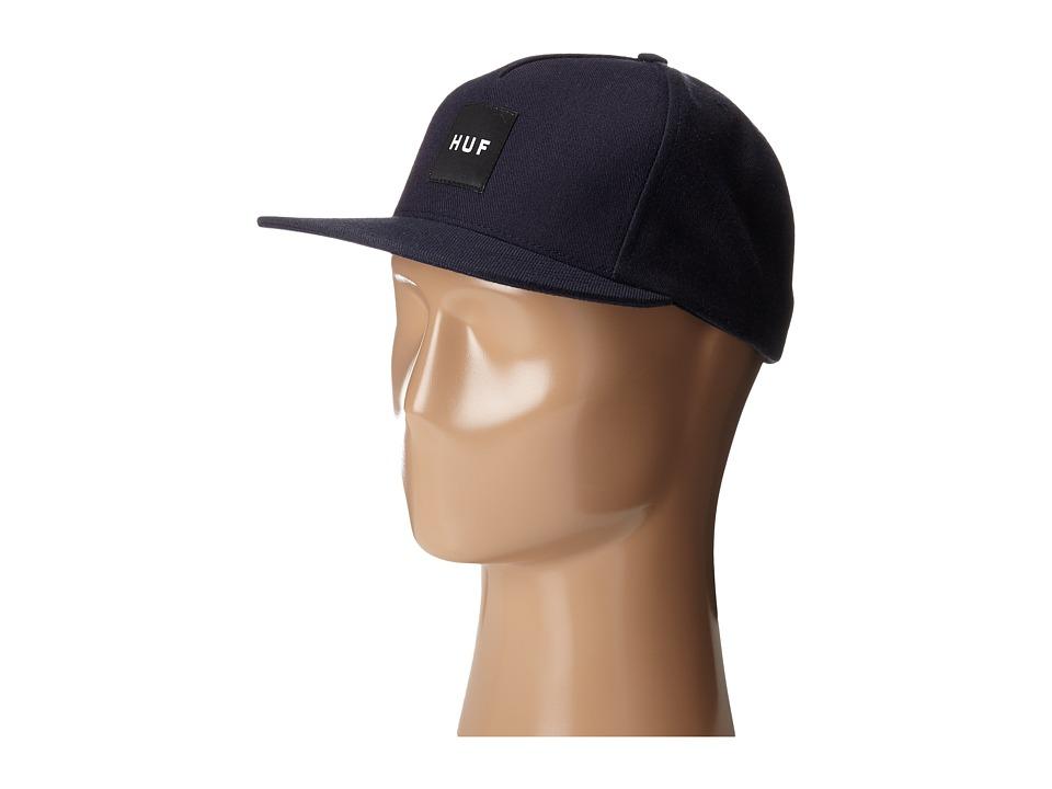 HUF - Box Logo Snapback (Navy) Caps