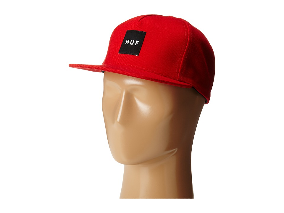 HUF - Box Logo Snapback (Red) Caps