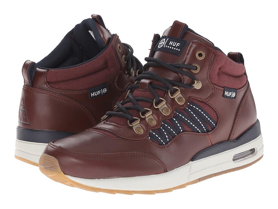 HUF - HR-1 (Dark Brown/Dark Navy) Men's Skate Shoes