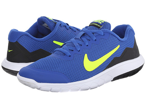 Nike Kids - Flex Experience 4 (Big Kid) (Game Royal/Volt/Black) Boys Shoes