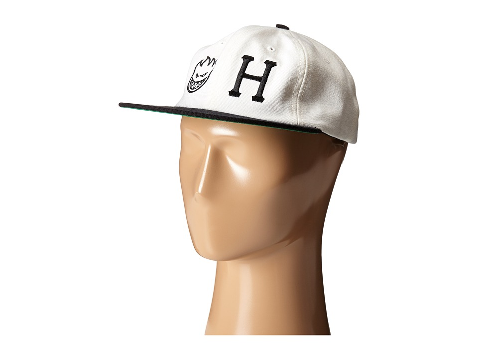 HUF - Huf X Spitfire 6 Panel (White) Caps