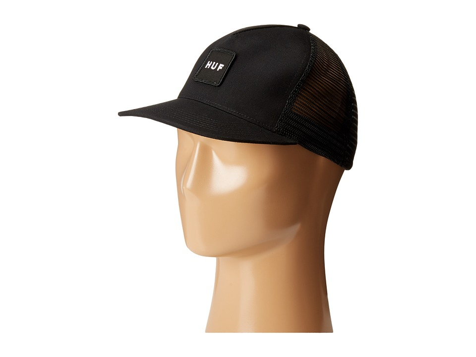 HUF - Box Logo Trucker (Black) Caps