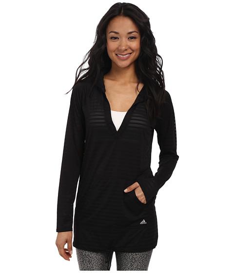 adidas - Match Point Raglan Hoodie (Black) Women's Swimwear