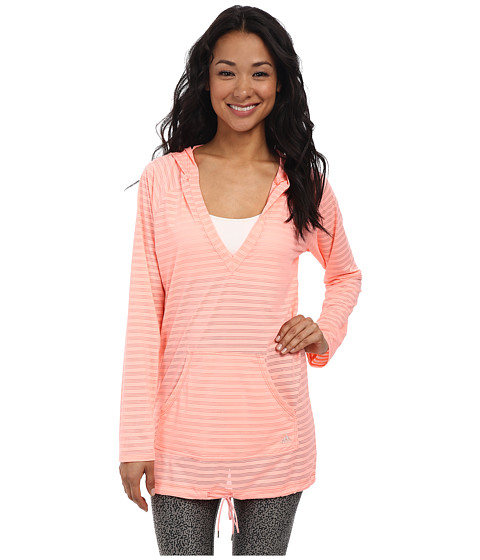 adidas - Match Point Raglan Hoodie (Apricot Blush) Women's Swimwear
