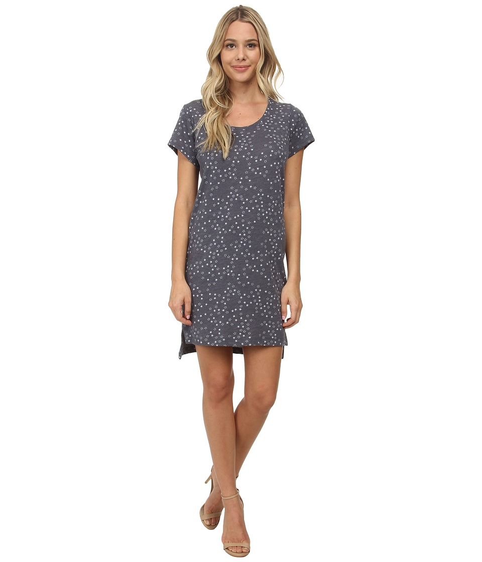 Alternative - Eco Jersey T-Shirt Dress (Eco True Navy Scattered Stars) Women's Dress