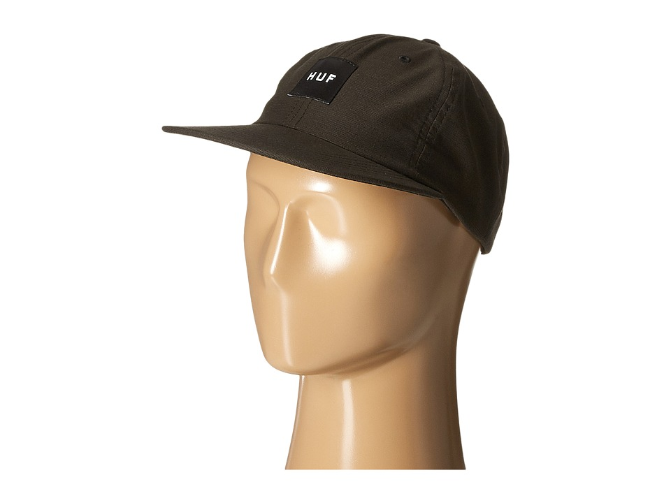 HUF - Box Logo 6 Panel (Black) Caps