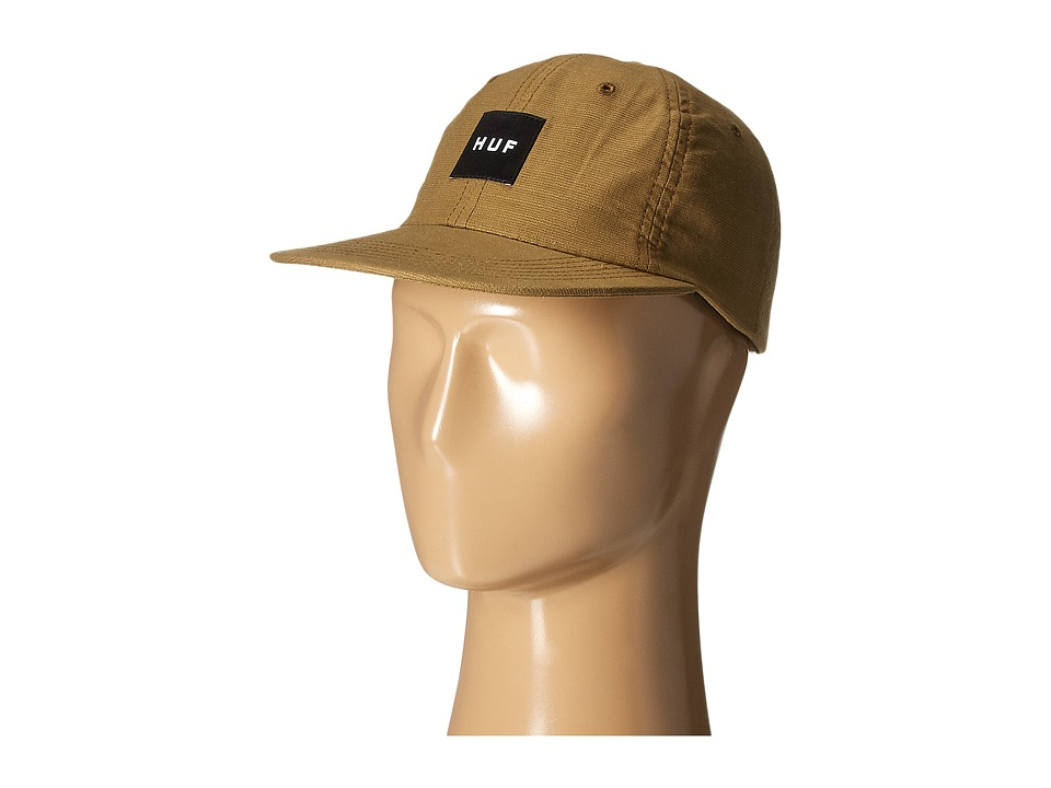 HUF - Box Logo 6 Panel (Caramel) Caps