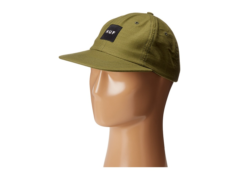 HUF - Box Logo 6 Panel (Olive) Caps