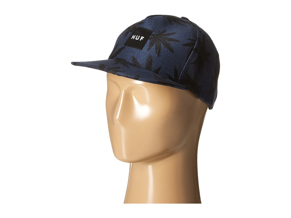 HUF - Jacquard Plantlife Snapback (Navy) Caps