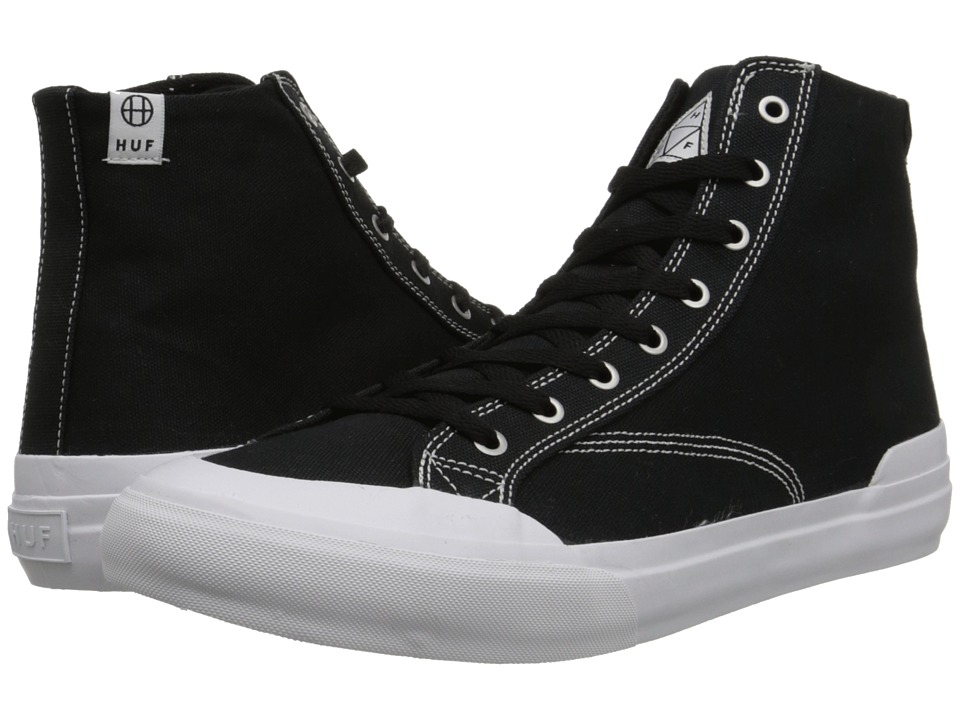 HUF - Classic Hi (Black Canvas) Men's Skate Shoes