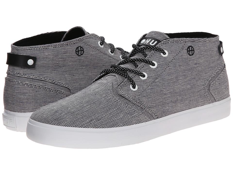 HUF - Mercer (Black Woven) Men's Skate Shoes
