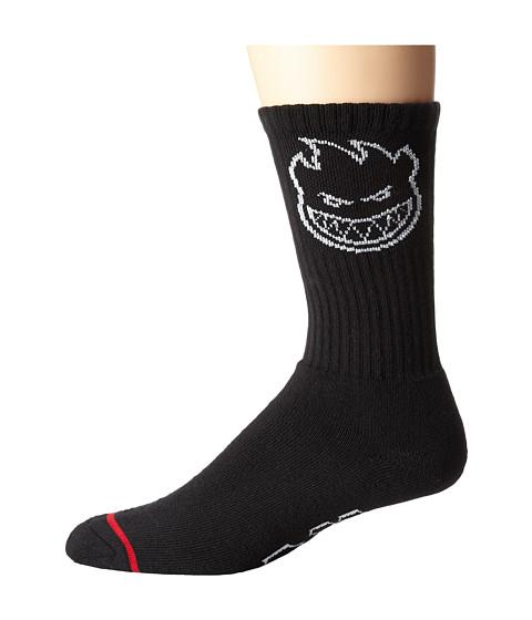 HUF - Huf X Spitfire Classic H Crew Sock (Black) Crew Cut Socks Shoes