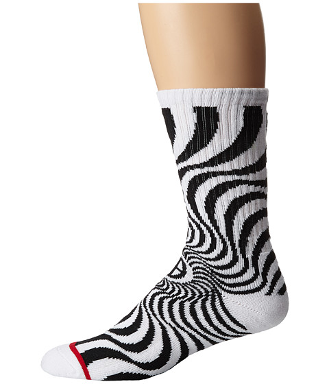 HUF - Huf X Spitfire Swirl Sock (White) Crew Cut Socks Shoes