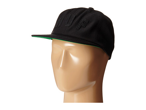 HUF - Short Stop 6 Panel (Black) Caps