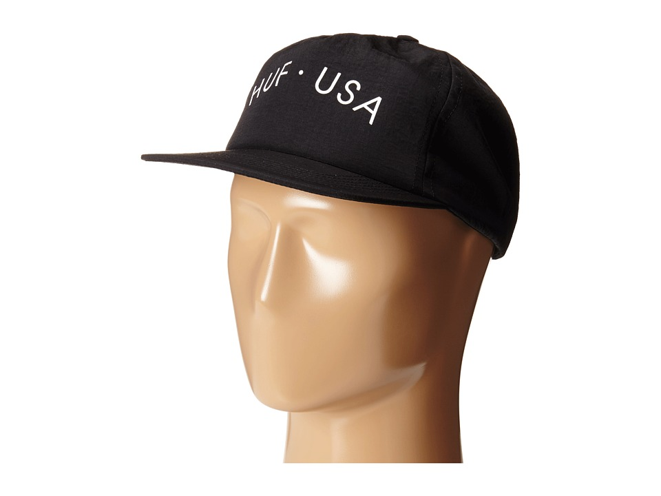HUF - Huf USA Snapback (Black) Caps