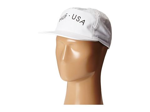 HUF - Huf USA Snapback (White) Caps