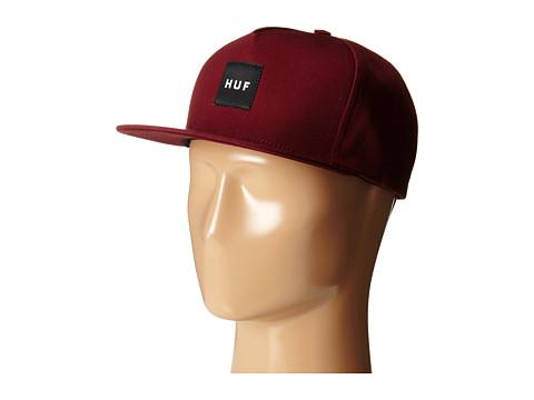 HUF - Box Logo Snapback (Wine SU15) Caps