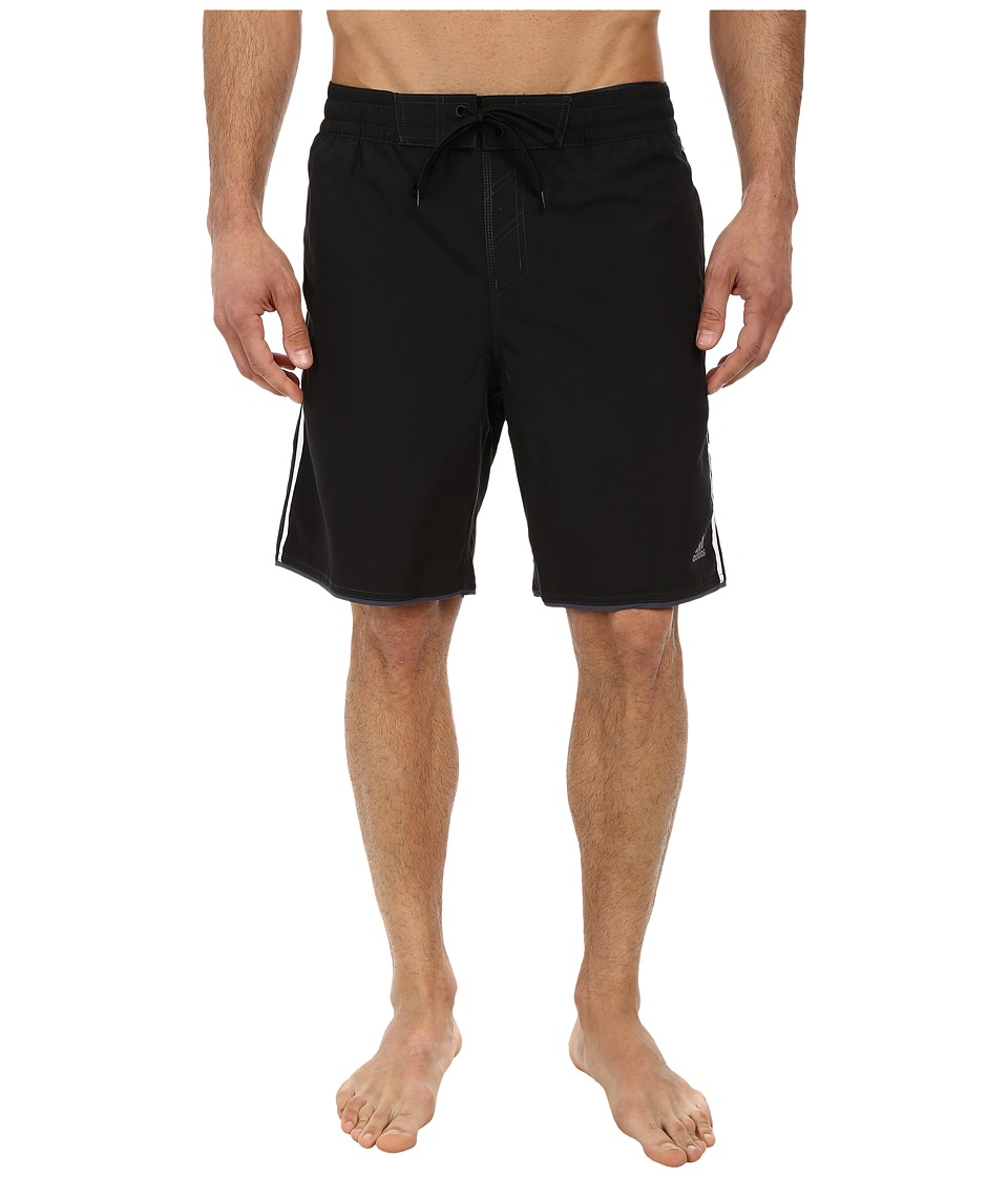 adidas - Core Tech Volley Shorts (Black/White) Men's Swimwear